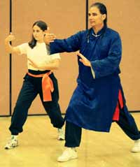 Father and Daughter, Buddha Zhen and Zhen Ming-Mou, Caitlin O'Connor