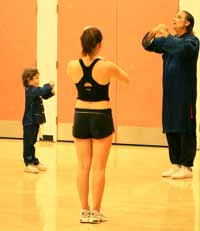 Rory O'Connor at YMCA Tai Chi Class 2003