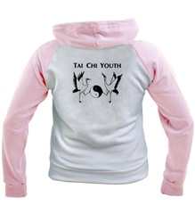 TCY pink white Hooded Sweatshirt
